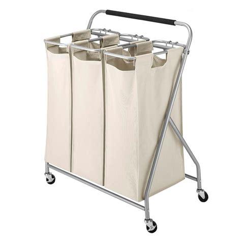Whitmor Easy Lift Triple Laundry Sorter 6640 4794 The Whitmor Laundry