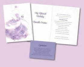 butterfly princess quinceanera invitation