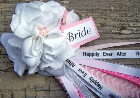 bridal shower corsage ideas white and pink bridal shower corsage to be by bloomingparty 12 00 shower ideas
