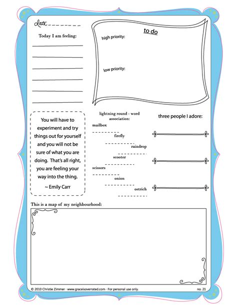 printable daily journal pages search results for daily diary page free to print