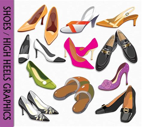 artistic high heels shoes clip high heel clipart graphic digital scrapbook