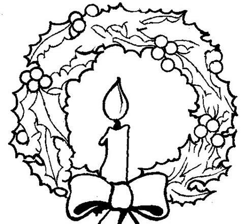 imagenes de navidad para colorear de velas dibujo de corona de navidad y una vela para colorear