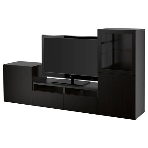 ikea besta black best 197 tv storage combination glass doors lappviken sindvik
