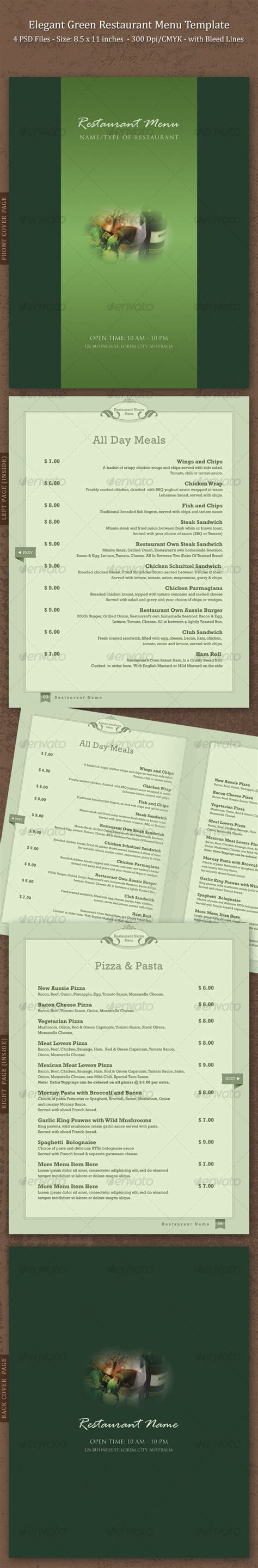 menu template indesign menu template indesign