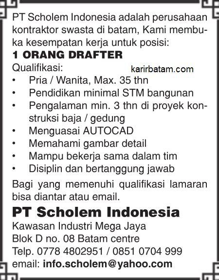 lowongan kerja pt scholem indonesia lowongan kerja