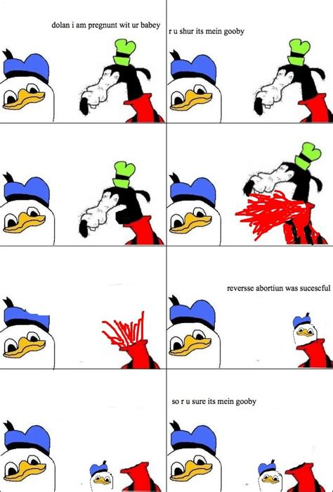 gooby is pregnunt dolan know your meme