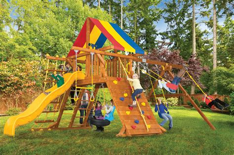 rainbow swing set all rainbow play systems rainbow play systems