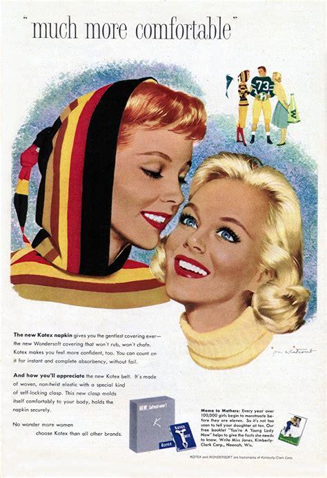 glamorous kotex ads    vintage everyday