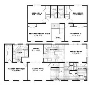 4 Bedroom Double Wide Trailers mobile home floor plan treyburn by milton crest homes