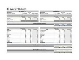 Biweekly Budget Template 9 Best Images Of Free Printable Bi Weekly Budget Template