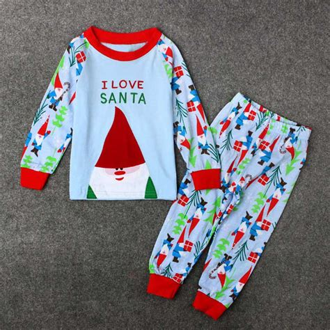 boys christmas outfit size 8 2 8y kids baby girl boy christmas sleepwear outfit