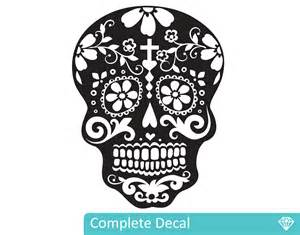Wall Stickers And Decals day of the dead sugar skull your decal shop nz