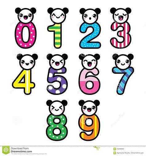 imagenes de matematicas kawaii n 250 meros lindos de kawaii del oso fijados stock de