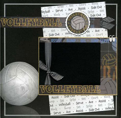 scrapbook layout ideas for volleyball 11 best images about volleyball scrapbook on pinterest