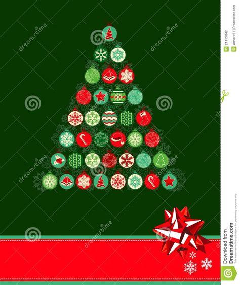 christmas tree made of balls stock photography image