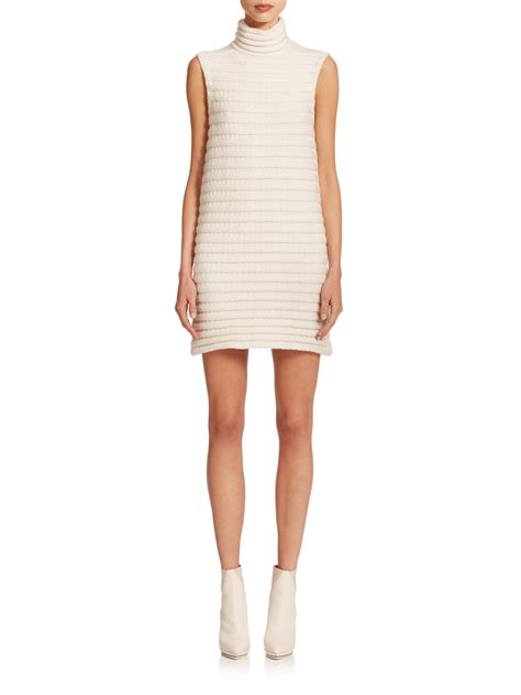 white knit dress akris knit dress in white lyst