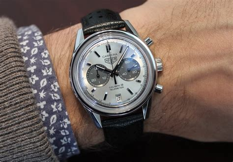 Tagheuer Cal 16 Silver tag heuer calibre 18 chronograph on