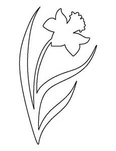 Daffodil Flower Outline by Daffodil Pattern Use The Printable Outline For Crafts Creating Stencils Scrapbooking And