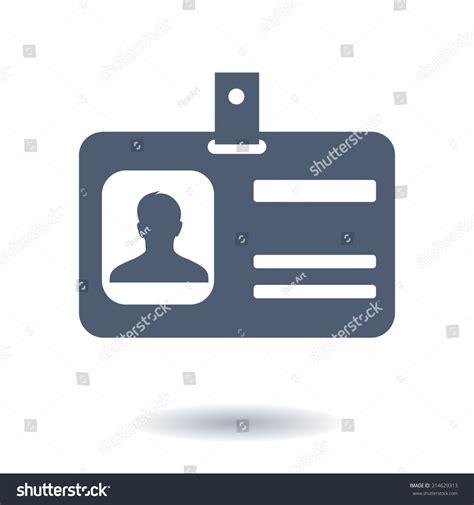 id card flat design identification card icon flat design style stock vector