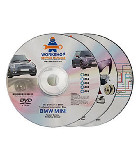 bmw mini 3 dvd workshop service manual parts wiring r50