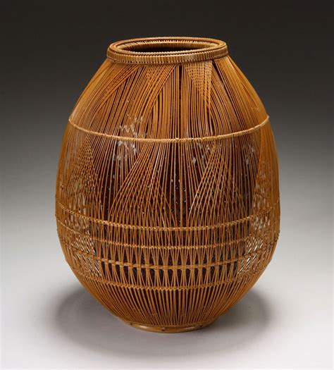 Large Rattan Vase Masters Of Bamboo Japanese Baskets And Sculpture In The