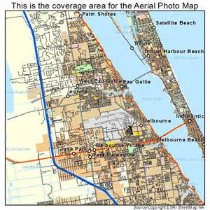 aerial photography map of melbourne fl florida