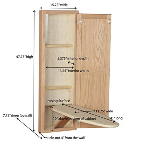 ironing board wall cabinet household essentials 18200 1 stowaway in wall ironing