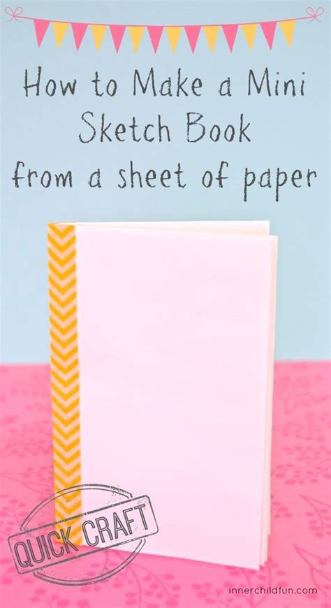 How To Make A Paper Mini Book - how to make a mini sketchbook from a sheet of paper easy