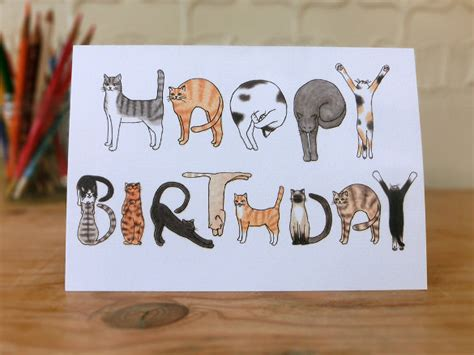 cat birthday card template 21 birthday card templates free sle exle format