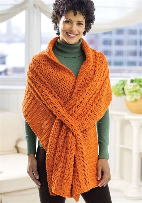 red heart pattern wr1811 wrap with slits in red heart super saver economy solids