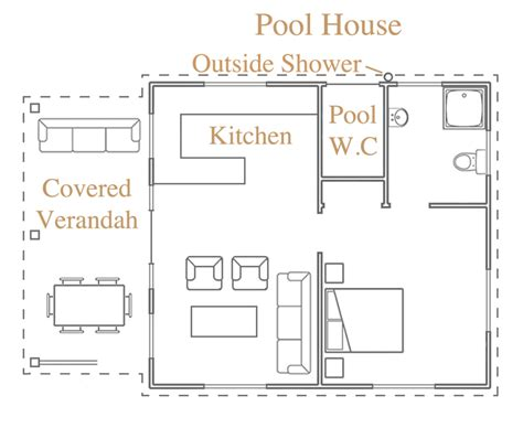 pool guest house floor plans like this pool house plan out house pinterest pool