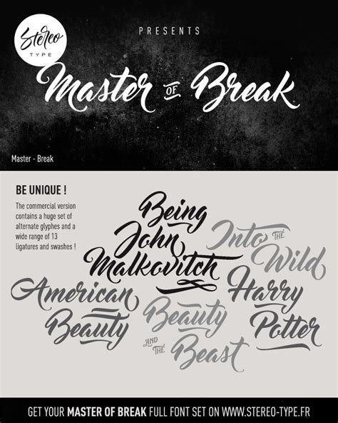 Dafont Master Of Break | fontes gratuitas para download 2 design conceitual