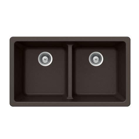 33 undermount kitchen sink houzer quartztone undermount composite granite 33 in