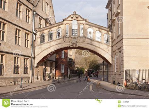 Across The Bridge Of Sighs the bridge of sighs in oxford uk editorial photo image