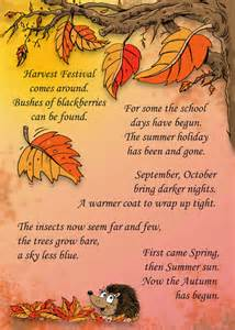 autumn preschool rhymes activity cards