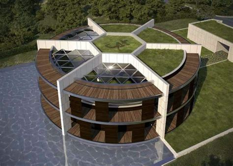 lionel messi house provided sustainable eco house in the form of football for lionel messi interior