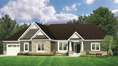 executive home plans home plans homepw77004 2 667 square 3 bedroom 2 bathroom craftsman home with 3 garage bays