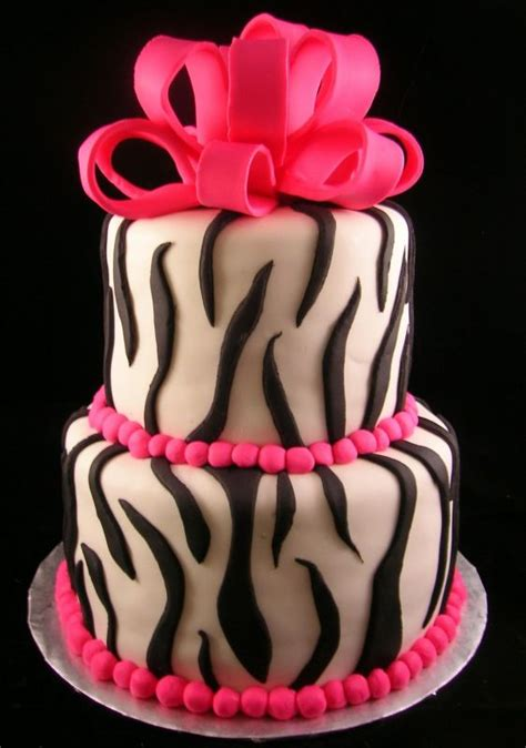 decoracion de pasteles para quinceañeras zebra print cakes