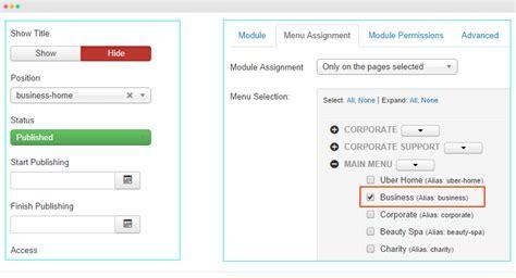 template joomla uber ja acm module configuration joomla templates and