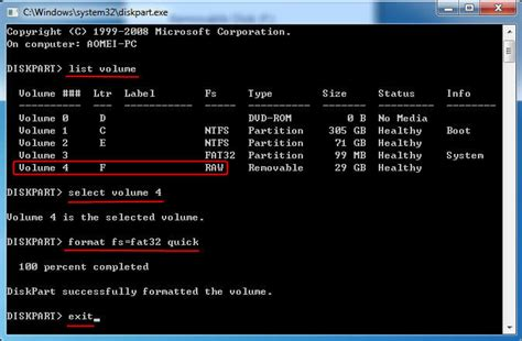 diskpart format usb raw how to convert raw to fat32 using cmd with ease