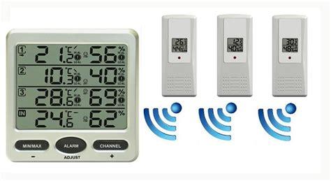 funk wanduhr digital groß funk thermometer ft0073 mit bis zu 8 aussensensoren