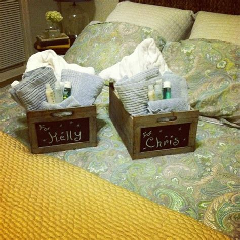 bedroom designs small spare ideas wedding welcome gift welcome baskets for the guest bedroom love the chalk 713 | 448a30317fb30f67a0d8512d7500eafe