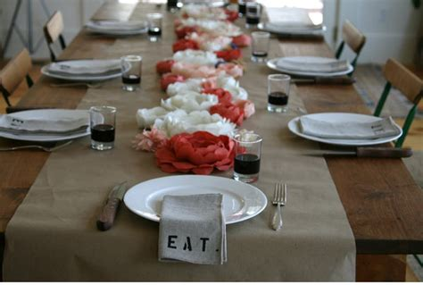 Paper Table Decorations To Make by Diy Table Runners For Every Occasion