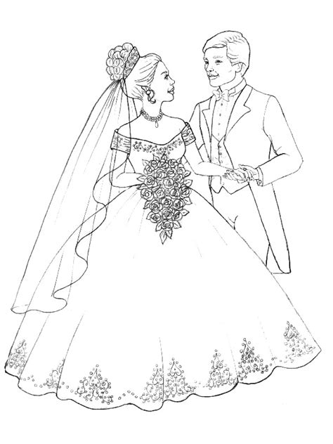 coloring pages wedding kids n fun com 34 coloring pages of marry and weddings