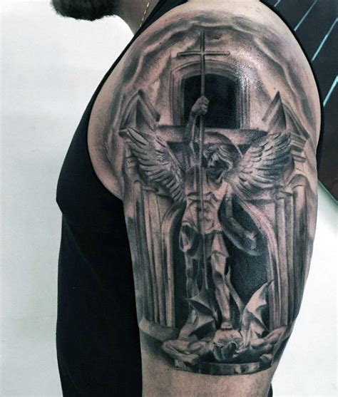 st michael tattoos 75 st michael designs for archangel and prince