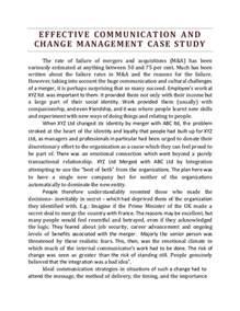 Change Management Essays by Change Management Essay