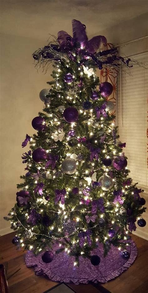 christmas tree decorations purple and silver www imgkid