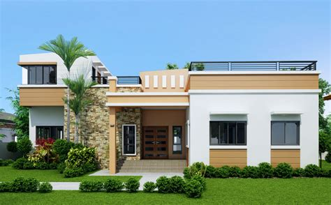A 1 Story House 2 Bed Room Desien by Single Story Four Bedroom House Plan Floor Area 169
