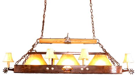 rustic pool table lights shop houzz frontier ironworks pony express pool table