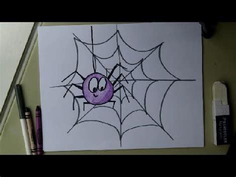 tutorial web easy draw a cute spider on a web easy drawing tutorial